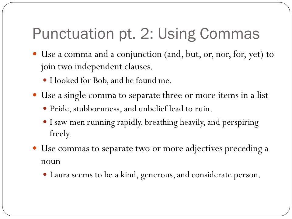Punctuation pt.