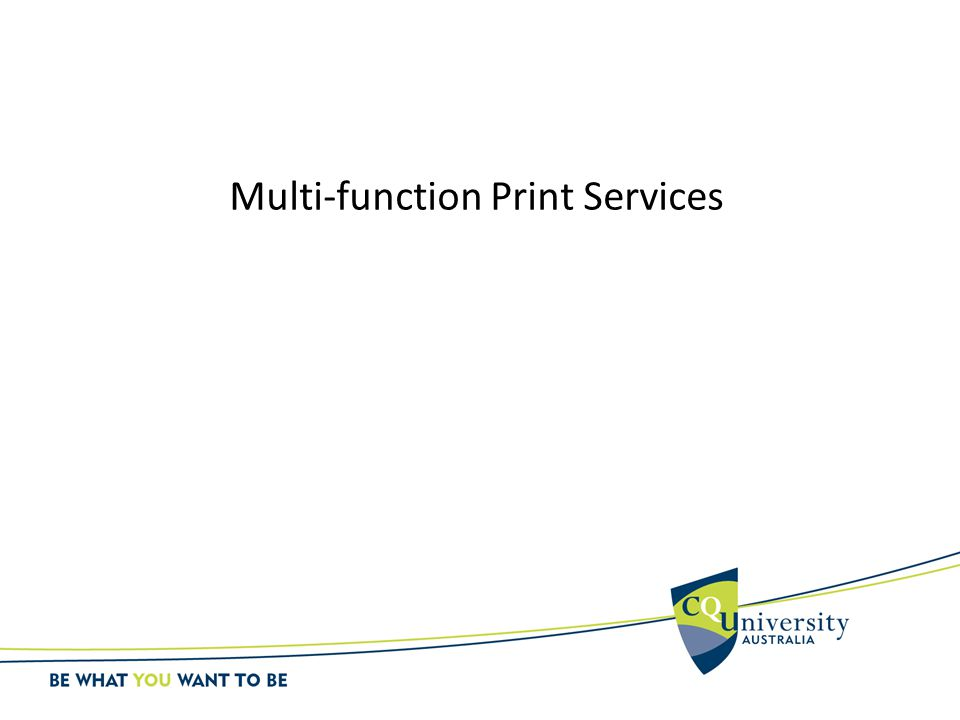 Multi-function Print Services