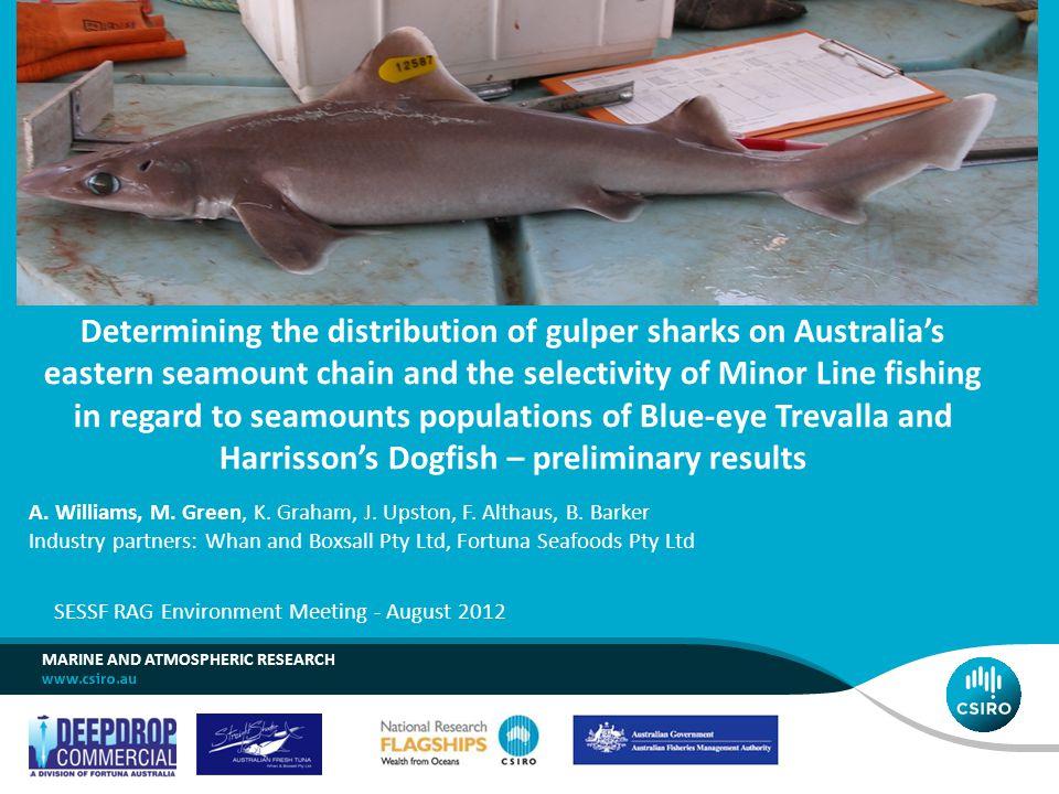 A. Williams, M. Green, K. Graham, J. Upston, F. Althaus, B. Barker Industry partners: Whan and Boxsall Pty Ltd, Fortuna Seafoods Pty Ltd SESSF RAG Env