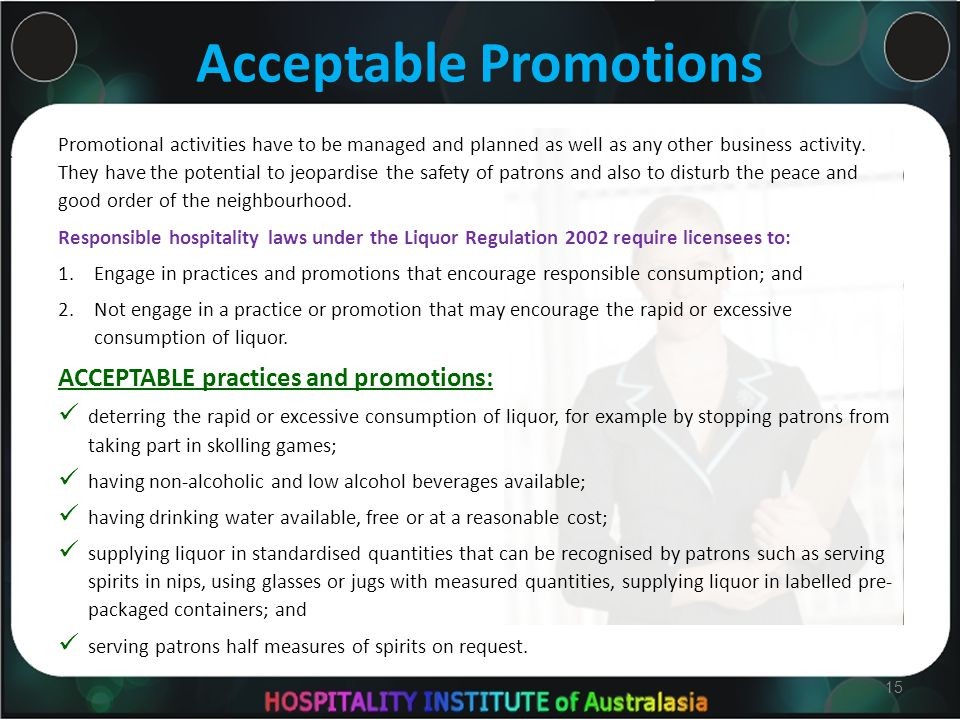 Acceptable Promotions Promotional activities have to be managed and planned as well as any other business activity.