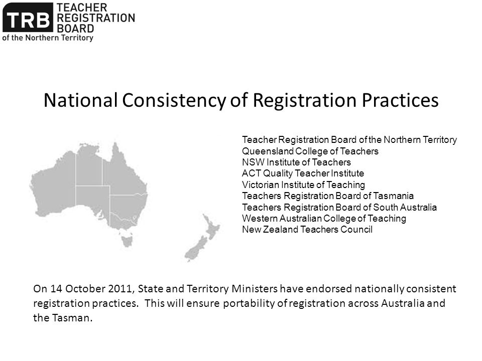 Currency of Practice Means having practiced as a teacher in a Northern Territory government or non-government school for one year (180 days FTE) within the five year period of registration.
