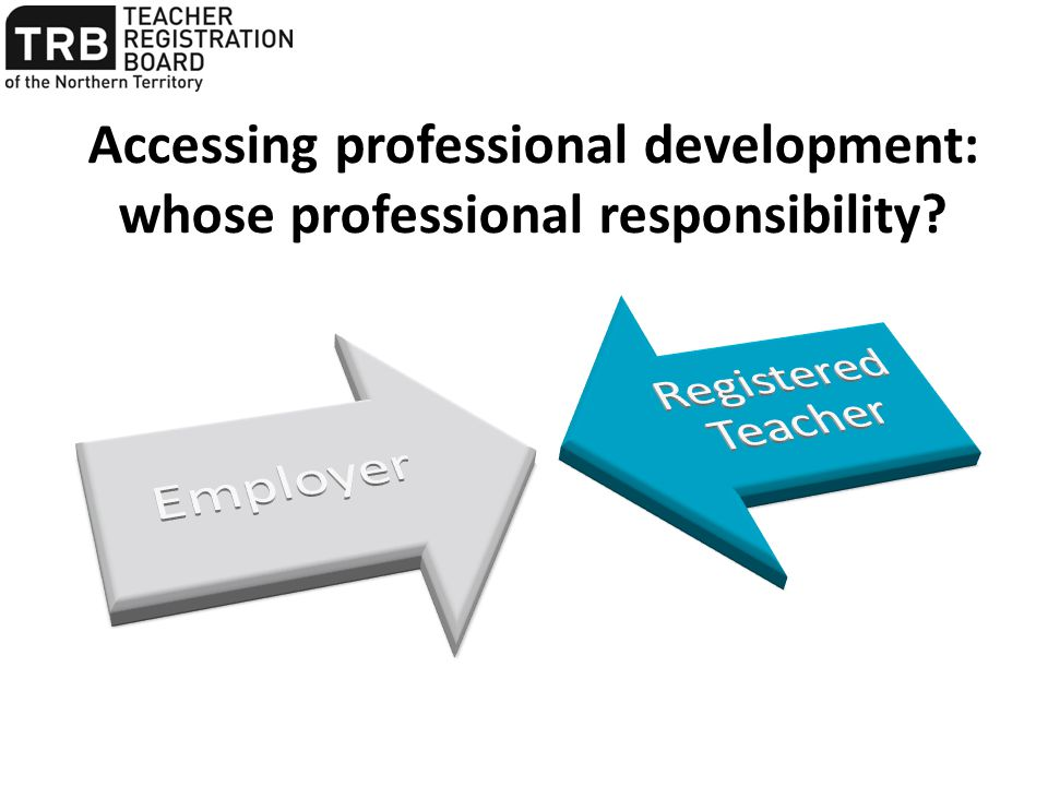 Accessing professional development: whose professional responsibility?
