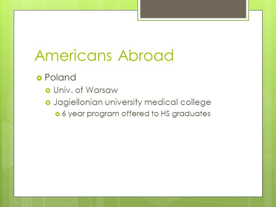 Americans Abroad  Poland  Univ.