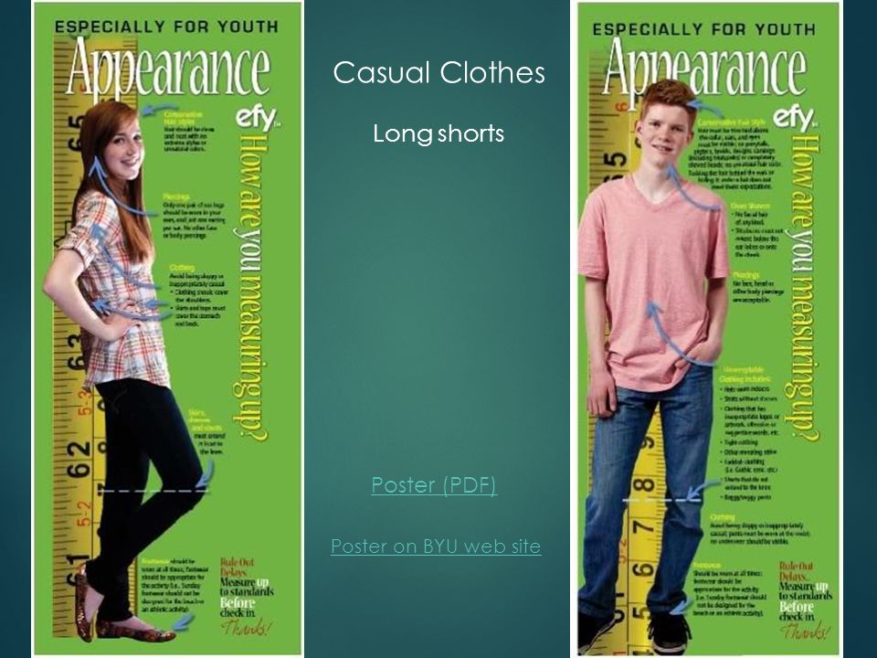 Dress: For the Strength of Youth booklet is the guide Church Clothes
