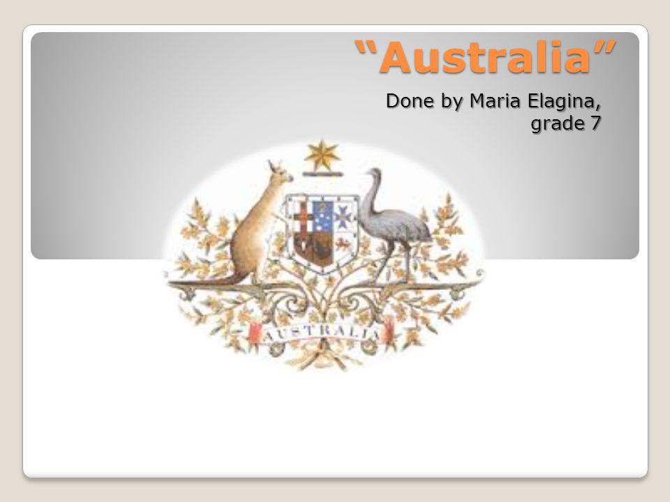 Australia Done by Maria Elagina, grade 7