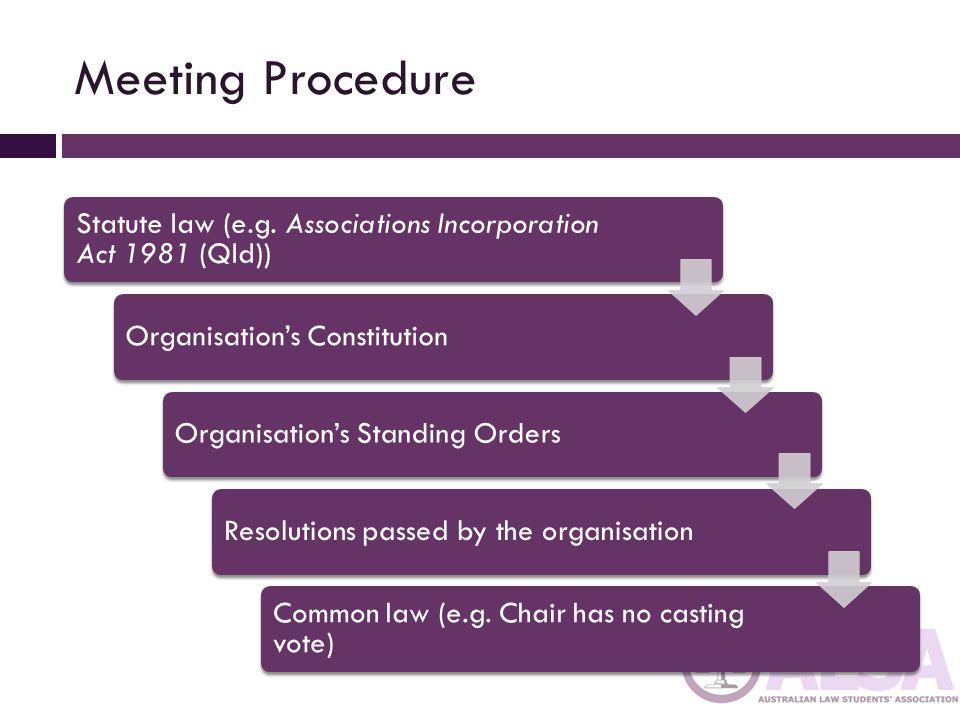 Why Advanced Meeting Procedure .