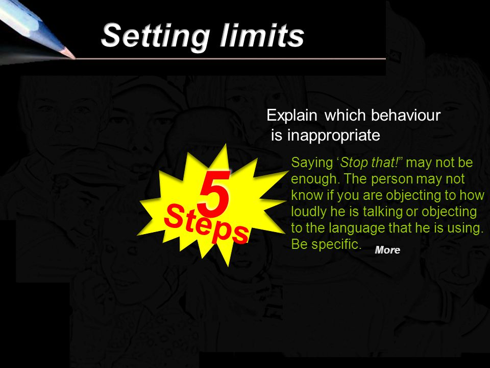 Setting a limit is not the same as issuing an ultimatum.