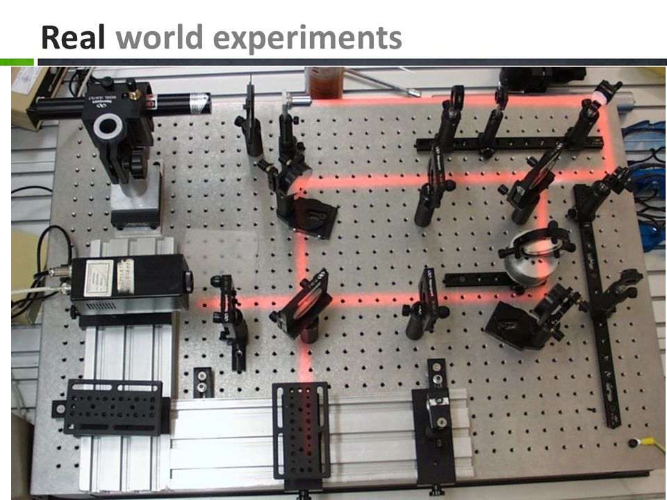 Real world experiments