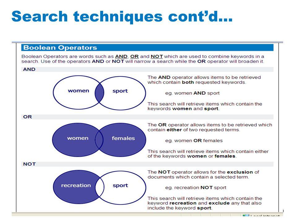 9 Search techniques cont'd…
