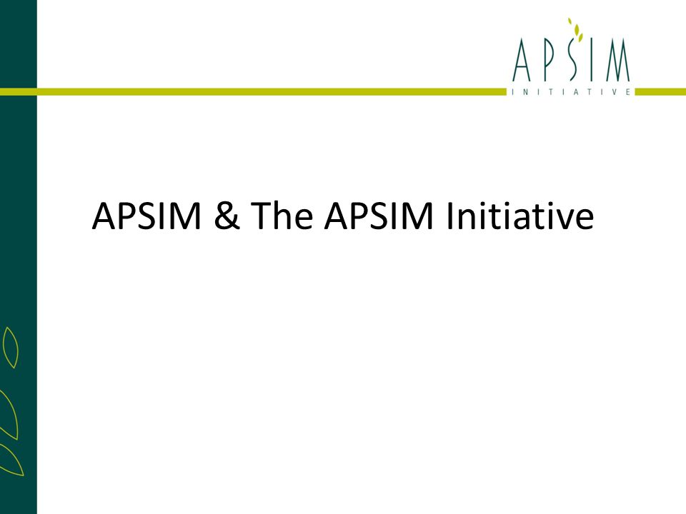 APSIM & The APSIM Initiative