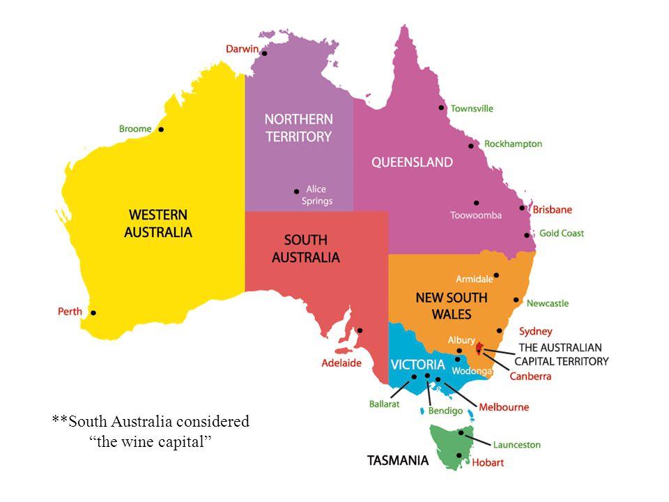 **South Australia considered the wine capital