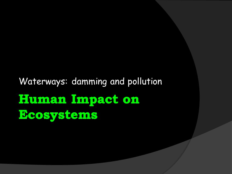 Waterways: damming and pollution