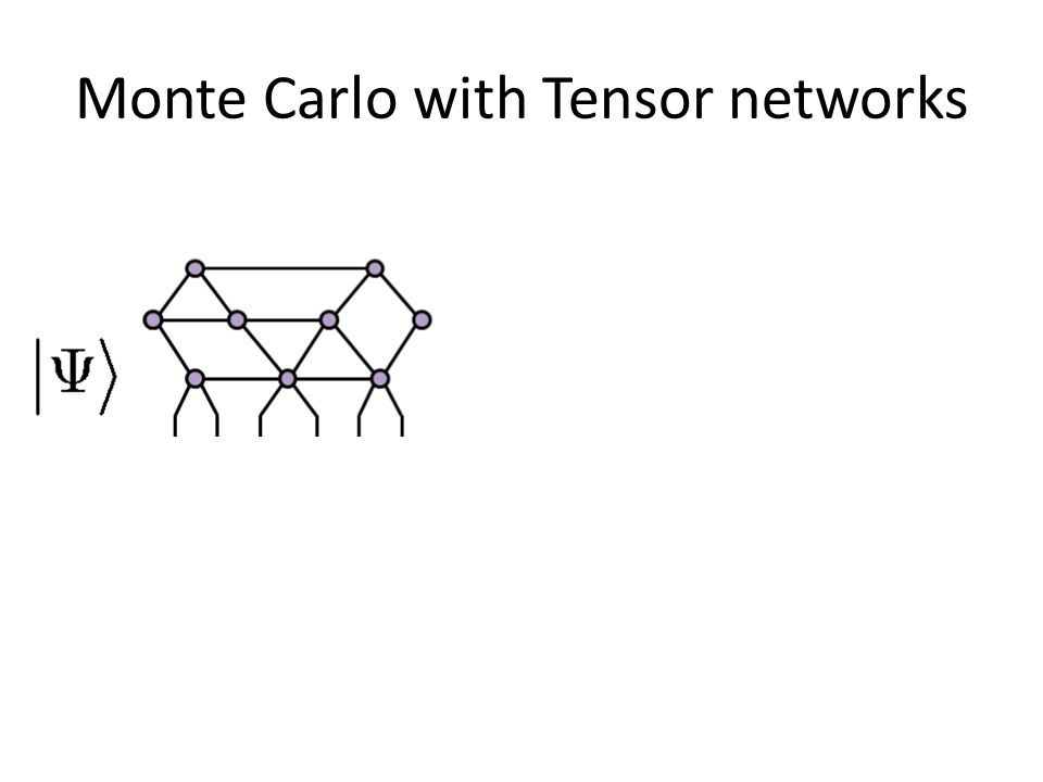 Monte Carlo with Tensor networks
