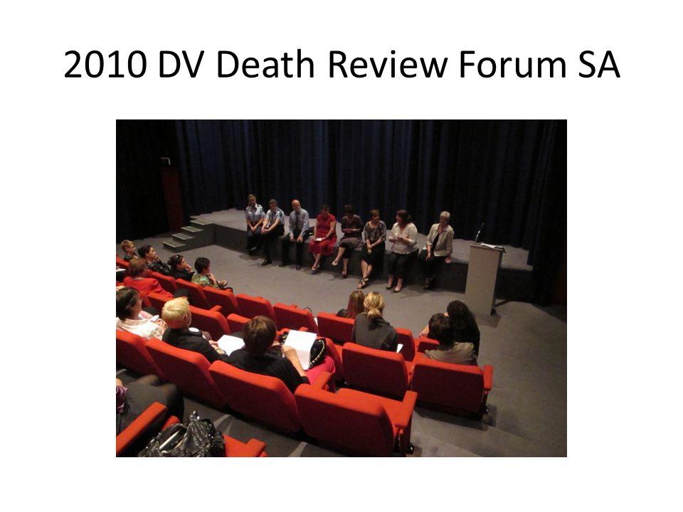 2010 DV Death Review Forum SA
