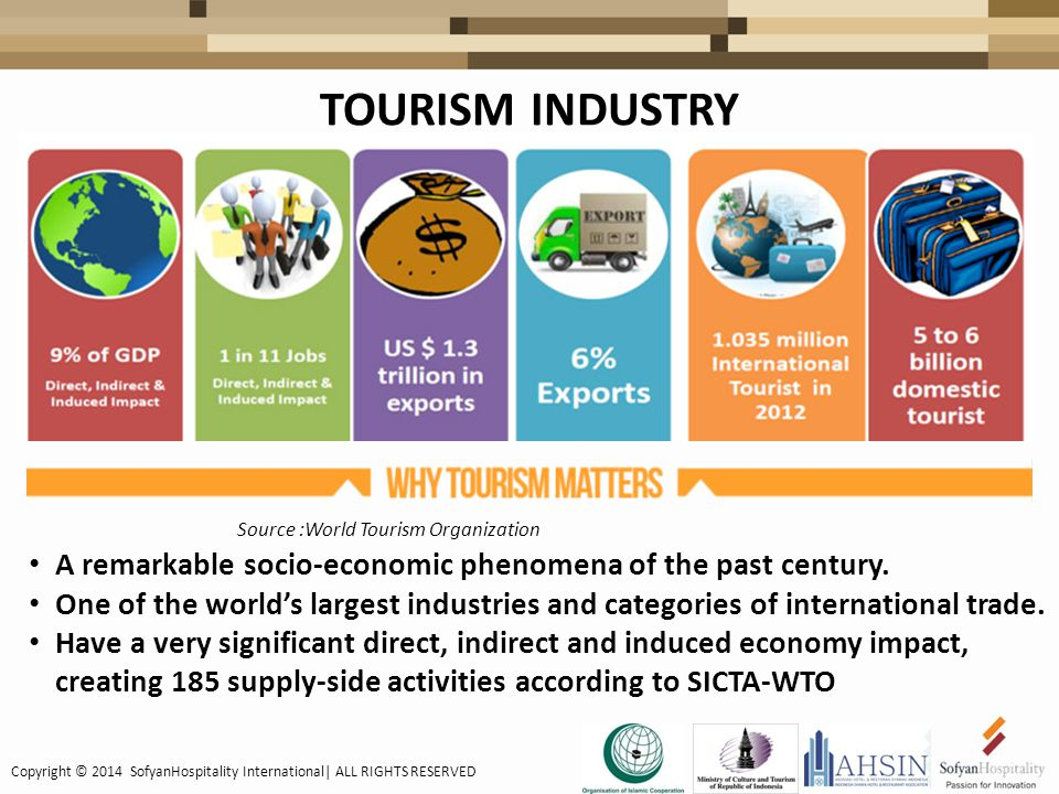 TOURISM INDUSTRY A remarkable socio-economic phenomena of the past century.