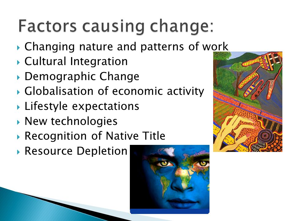  Structural change is an economic explanation for our changing work patterns.