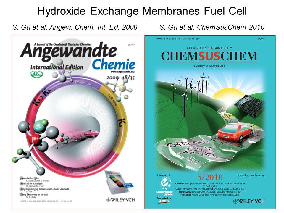 Hydroxide Exchange Membranes Fuel Cell S. Gu et al. ChemSusChem 2010S. Gu et al. Angew. Chem. Int. Ed. 2009