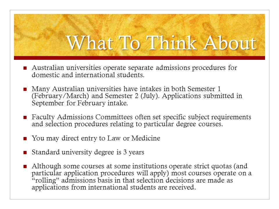 What To Think About Australian universities operate separate admissions procedures for domestic and international students. Many Australian universiti