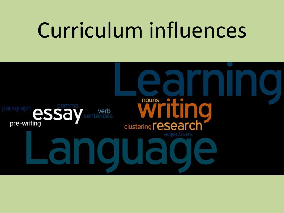 Curriculum influences