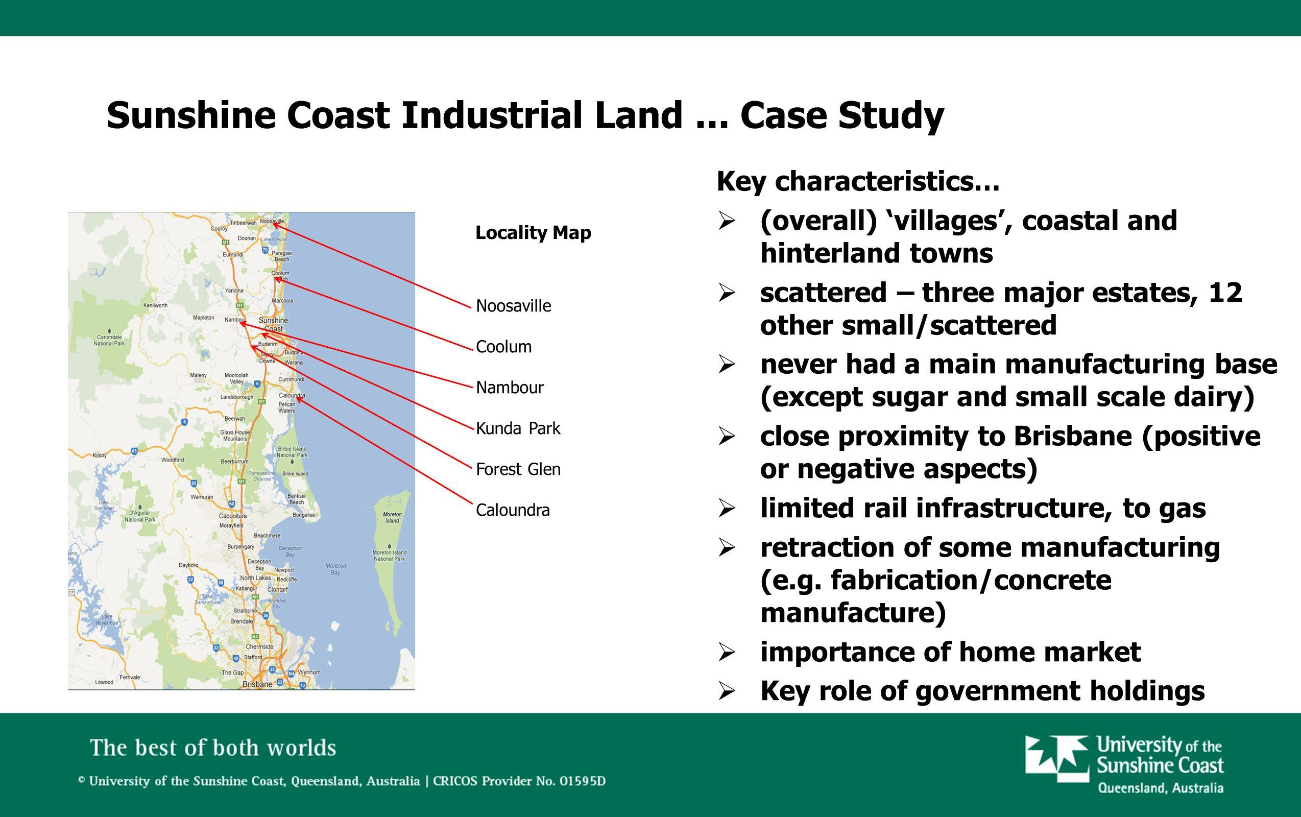 Ref: maps.google.com.au Sunshine Coast Industrial Land...