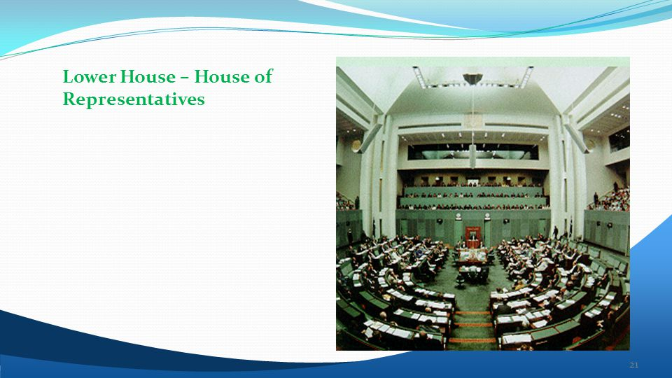 Lower House – House of Representatives 21