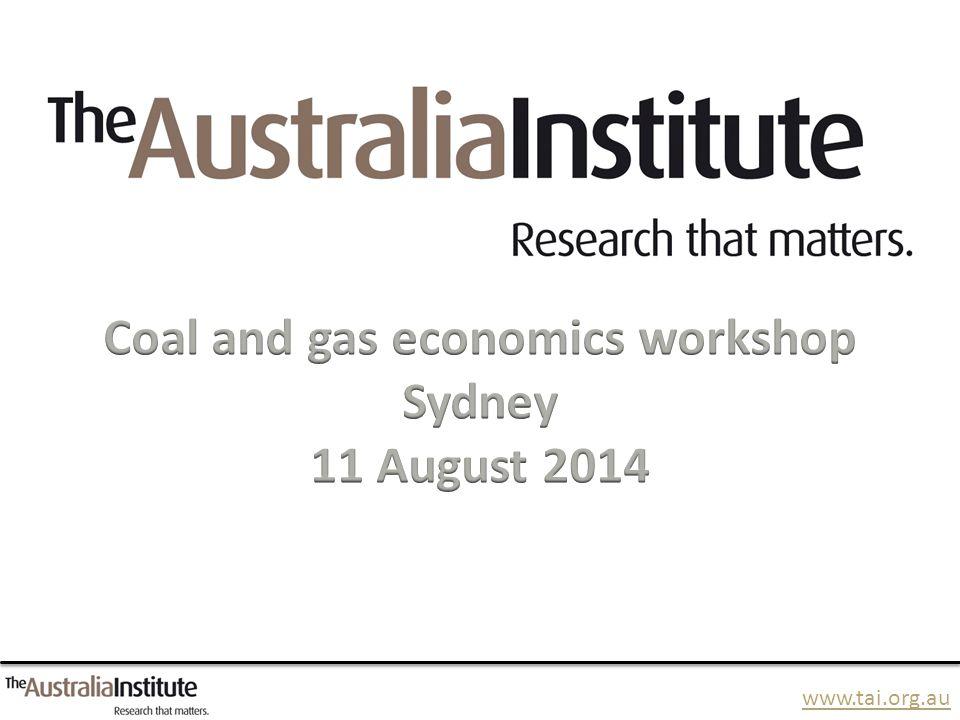 www.tai.org.au The coal industry