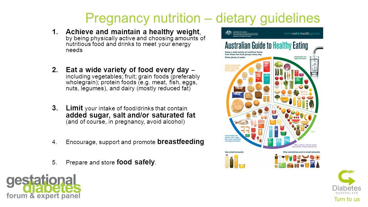 Pregnancy nutrition – dietary guidelines 1.