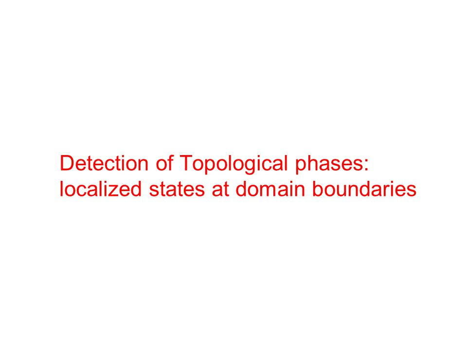 Detection of Topological phases: localized states at domain boundaries