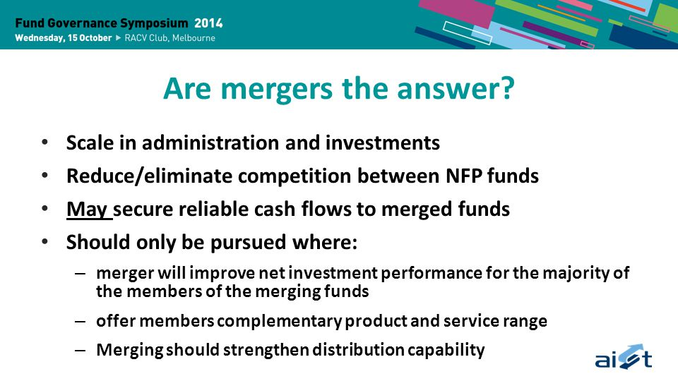 Are mergers the answer.