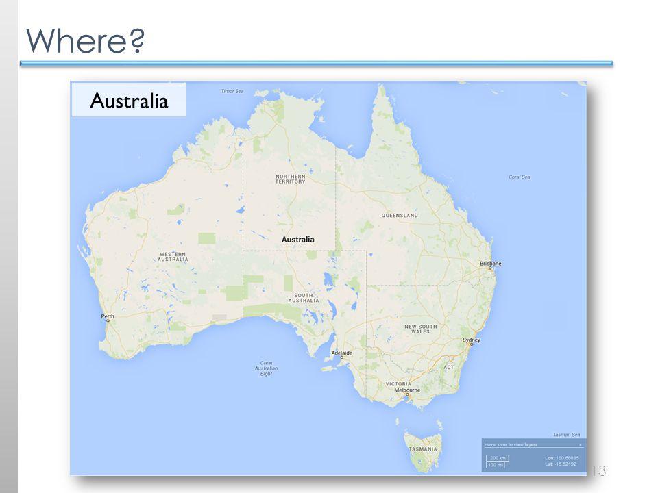 13 Where Australia
