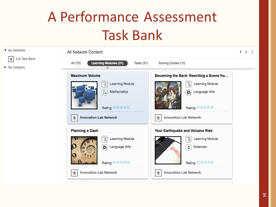 A Performance Assessment Task Bank 34