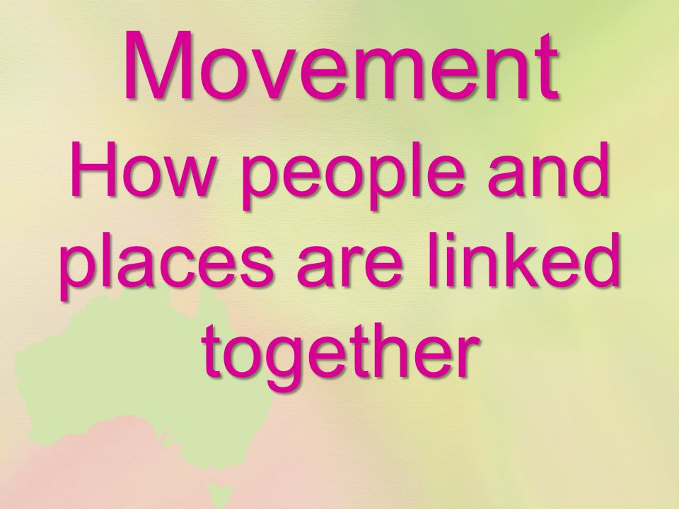 Movement How people and places are linked together