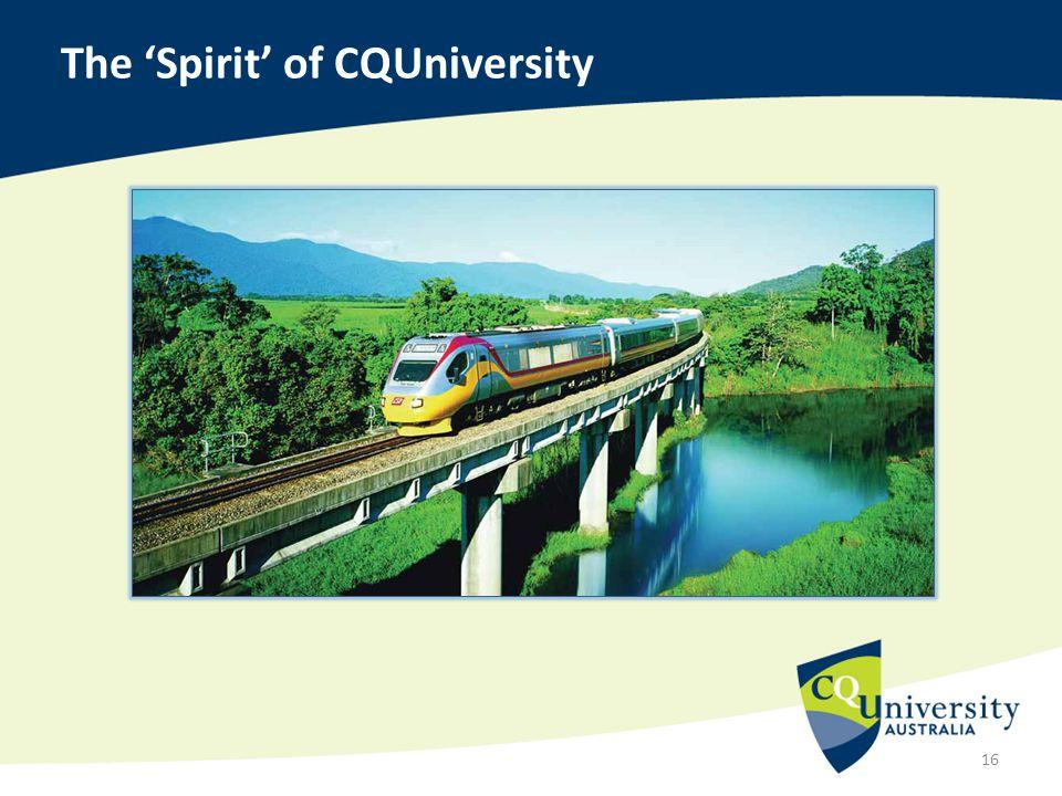 The 'Spirit' of CQUniversity 16