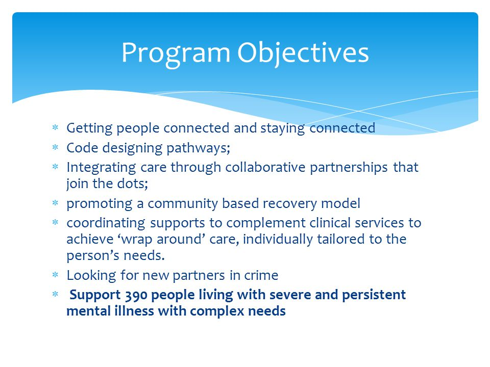 Consortium Management Committee Aftercare (Lead) Open Minds Richmond Fellowship Queensland NEAMI Drugarm Ozcare FSG Queensland Alliance WMOML WM HHS ACCESS Consumer and Carer Advisors A&TSI and Multicultural Representative