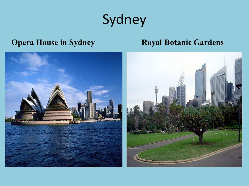 Sydney Opera House in Sydney Royal Botanic Gardens