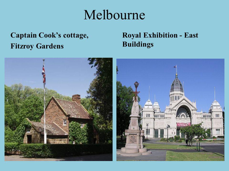 Melbourne Captain Cook's cottage, Fitzroy Gardens Royal Exhibition - East Buildings