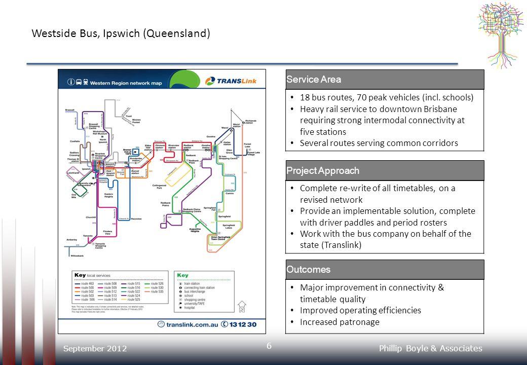 Phillip Boyle & Associates Westside Bus, Ipswich (Queensland) – NetPlan Schematic 7 September 2012