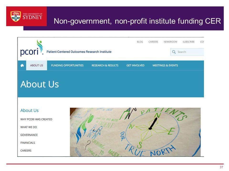 Non-government, non-profit institute funding CER 37