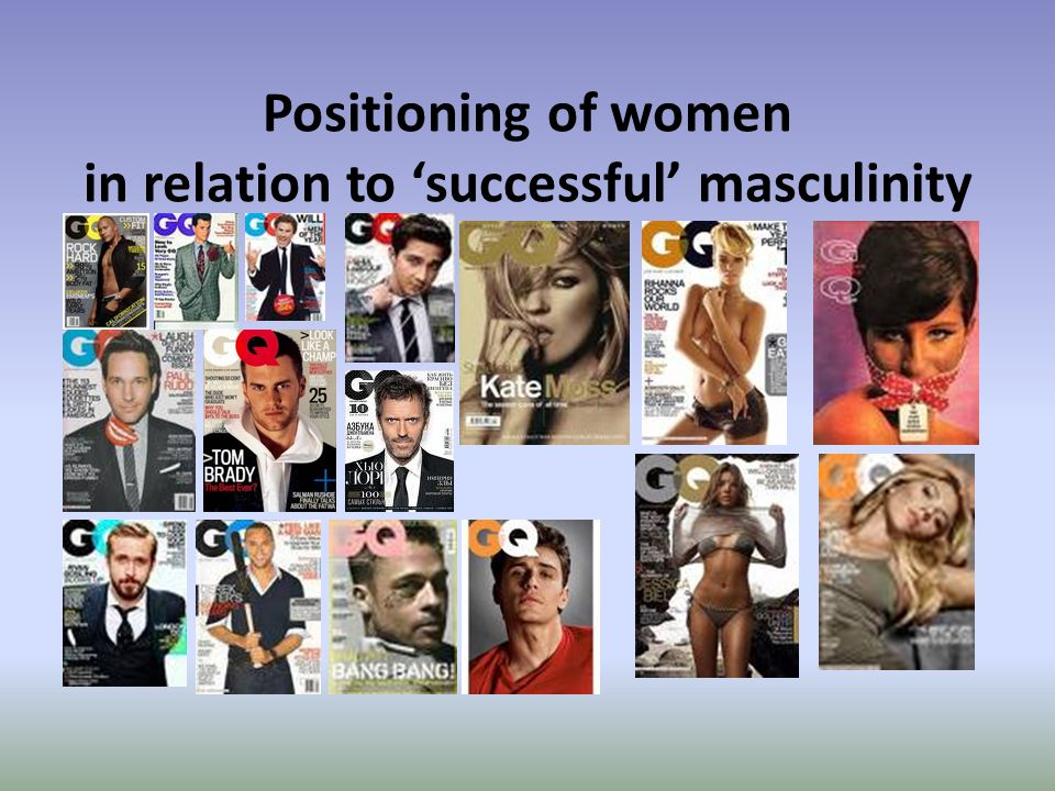 Positioning of women in relation to 'successful' masculinity