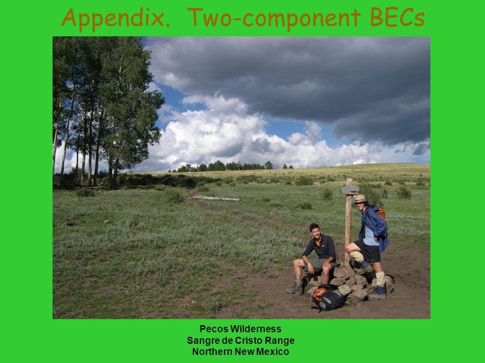 Pecos Wilderness Sangre de Cristo Range Northern New Mexico Appendix. Two-component BECs