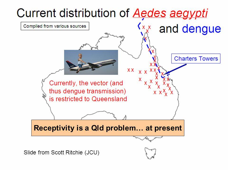 Receptivity is a Qld problem… at present Slide from Scott Ritchie (JCU)