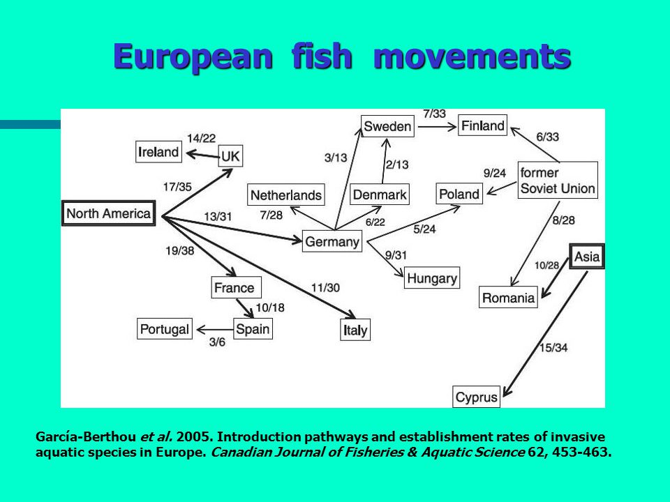 European fish movements García-Berthou et al. 2005.