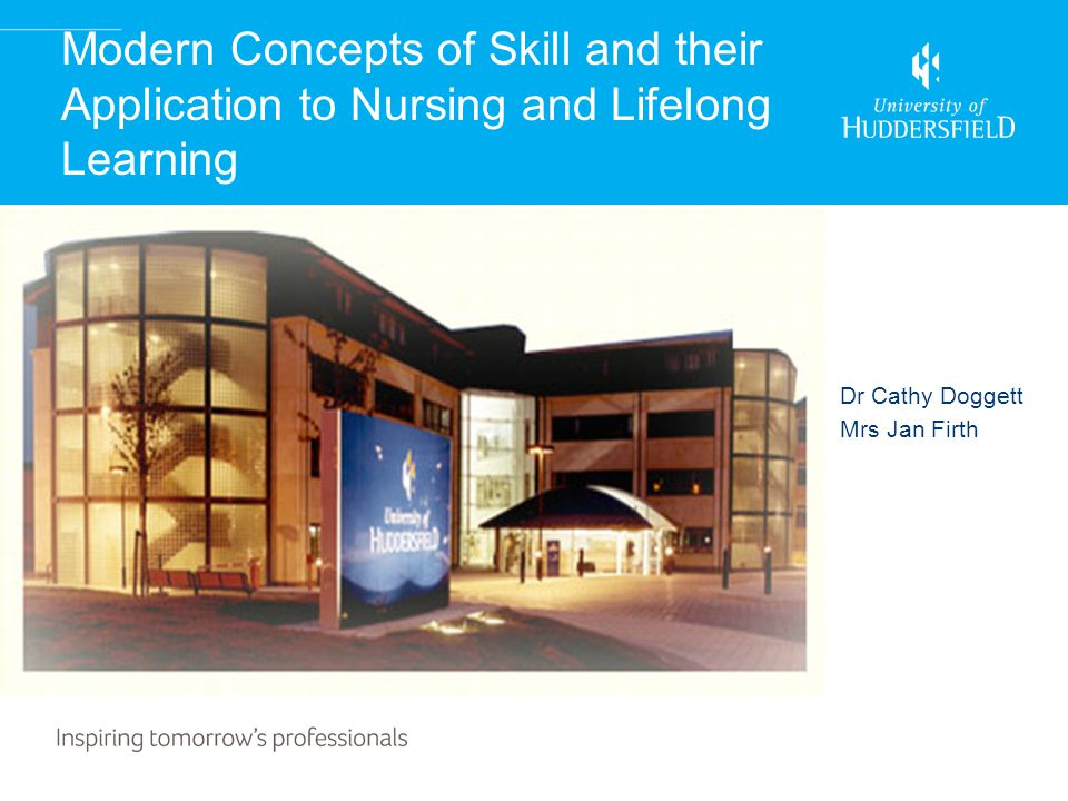 Modern Concepts of Skill and their Application to Nursing and Lifelong Learning Dr Cathy Doggett Mrs Jan Firth