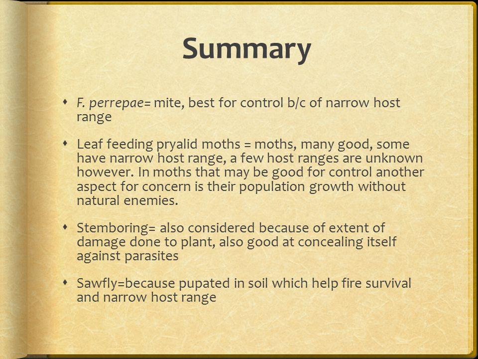 Summary  F.