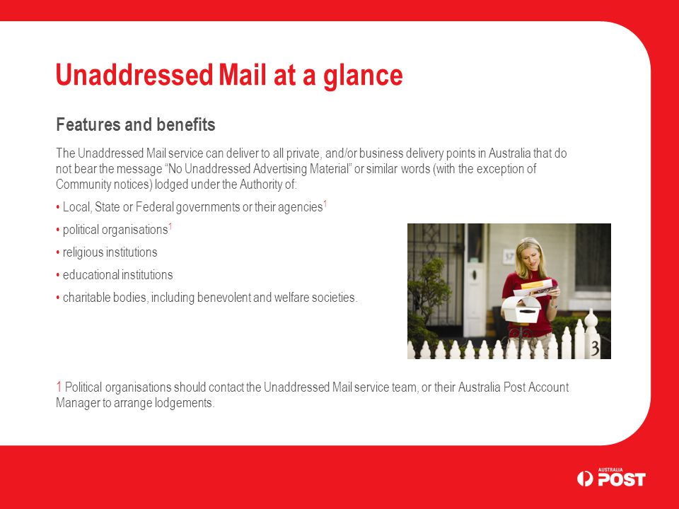 unaddressed mail basics business letter services. - ppt download