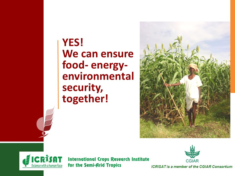 YES. We can ensure food- energy- environmental security, together.