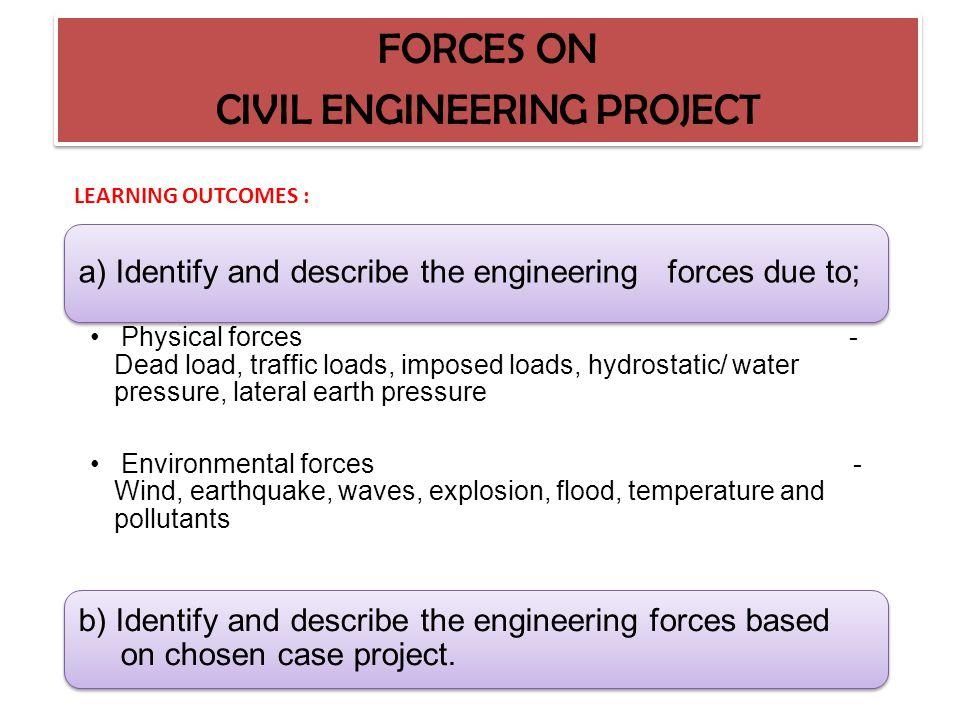 TOPIC 1.2 FORCES ON CIVIL ENGINEERING PROJECT FORCES ON CIVIL ENGINEERING PROJECT BY : NOR AZAH BINTI AZIZ KOLEJ MATRIKULASI TEKNIKAL KEDAH
