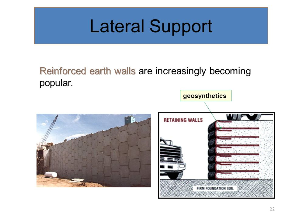 Crib Wall have been used in Queensland. Interlocking stretchers and headers filled with soil Good drainage & allow plant growth. Looks good. Lateral S