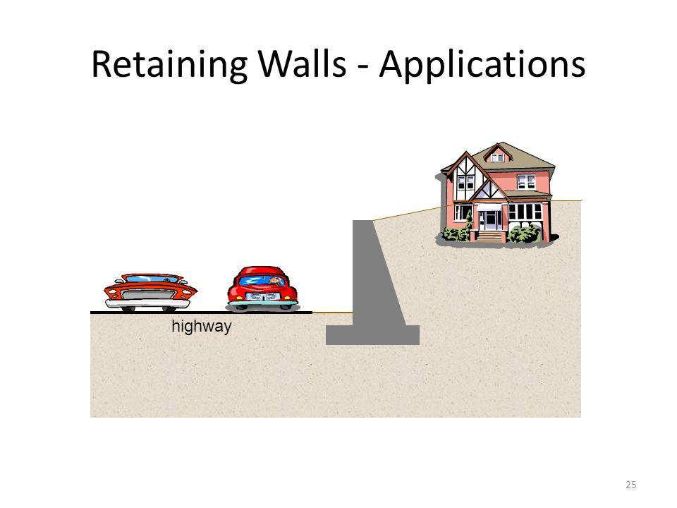 24 Retaining Walls - Applications Road Train