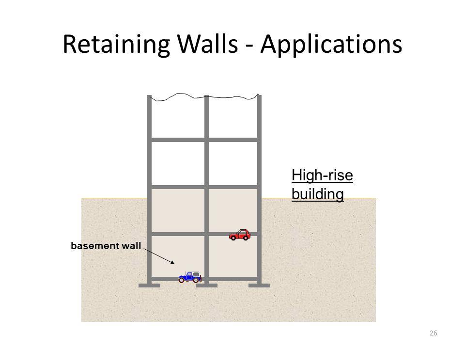 25 Retaining Walls - Applications highway